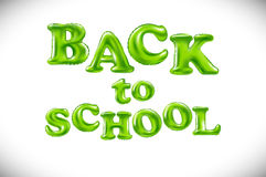 Phrase Back to school on white background. Lettering. royalty free illustration