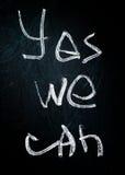 Phrase on blackboard Stock Images