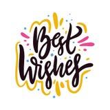 Phrase der besten Wünsche Hand gezeichnete Vektorbeschriftung Sommerzitat Getrennt auf weißem Hintergrund stock abbildung