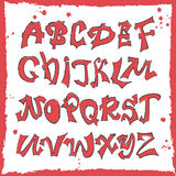 Phrase Follow me. Hand lettering graffiti alphabet.Urban style.Street basis font Royalty Free Stock Image