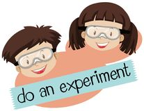Free Phrase For Do And Experiment With Boy And Girl Wearing Mask Royalty Free Stock Images - 113302409