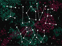Phrase I love you in a form of constellation on the universe background. Stock Photography