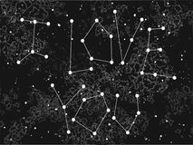 Phrase I love you in a form of constellation on the universe background. Stock Photos