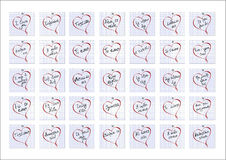 Phrase =I love you= notebook sheets. Stock Photos