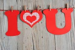 Phrase I LOVE YOU Stock Image