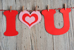 Phrase I LOVE YOU Royalty Free Stock Images