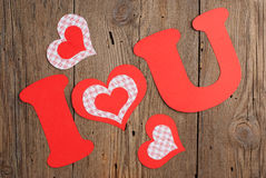 Phrase I LOVE YOU Stock Images
