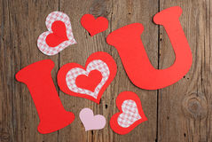 Phrase I LOVE YOU Stock Photography