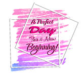 Phrase inspire new beginning Royalty Free Stock Photos
