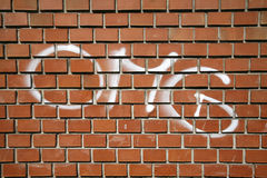 Phrase OMG letter type on a brick wall as background Stock Image