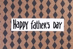 Phrase. `Happy father`s day` on color background Stock Image