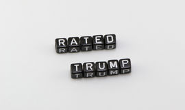 The phrase rating Trump Stock Image