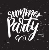 Phrase of Summer Party. Modern calligraphy lettering. Vector illustration. vector illustration