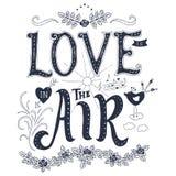 Phrase und Elemente über Liebe lizenzfreie abbildung