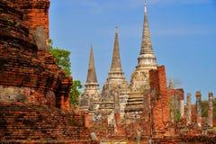 Phrasisanpeth temple in ayutthaya historical park thailand Royalty Free Stock Photo