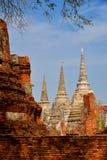 Phrasisanpeth temple in ayutthaya historical park thailand Stock Photo