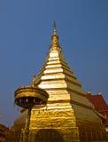 Phrathat Cho Hae金黄塔, Phrae,泰国 库存图片