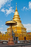 Phrathat Hariphunchai pagoda, Lamphun province Stock Images