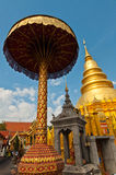Phrathat Hariphunchai Pagode, Lamphun Provinz Lizenzfreies Stockbild