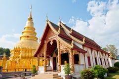 Phrathat Hariphunchai Pagode, Lamphun Provinz Stockbilder