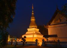 Phrathat Kham Kaen, de beroemdste pagode in Khonkaen, Thailand Royalty-vrije Stock Afbeeldingen