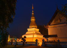 Phrathat Kham Kaen, den mest berömda pagoden i Khonkaen, Thailand Royaltyfria Bilder