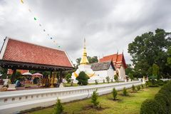 Phrathat KhamKaen chez Wat Chetiyaphumin dans Khonkaen, THAÏLANDE Image stock