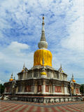 PHRATHAT NADUN white pagoda. stock photography