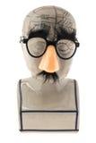 Phrenology κεφάλι με την αστεία μύτη και τα γυαλιά Στοκ Εικόνα