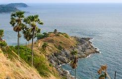 Phrom Thep cape, landmark at Phuket province Royalty Free Stock Photos
