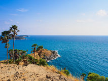 Phrom Thep cape and sea in Thailand. Stock Image