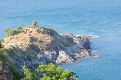 Phromthep海角的美妙的海 免版税图库摄影