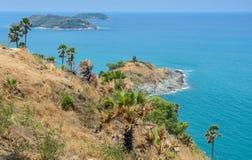 Phromthep海角观点在普吉岛,泰国 库存图片