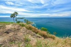 Phromthep海角观点风景  免版税库存照片