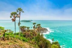 Phromthep Cape, Beautiful Andaman sea view in Phuket island, Thailand Stock Image