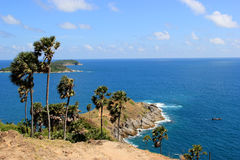 Phromthep Cape, the most phographed and best known location for Royalty Free Stock Photography