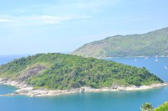 Phromthep cape at Phuket, Thailand. The beautiful Andaman Sea view from Cape Phromthep in Phuket Thailand Royalty Free Stock Images