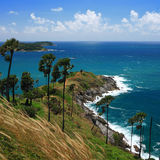 Phromthep cape viewpoint with blue sky Phuket,Thailand Stock Photography