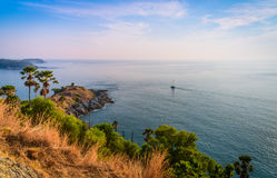 Phromthep cape viewpoint with blue sky in Phuket Royalty Free Stock Image