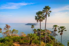 Phromthep cape viewpoint with blue sky in Phuket Royalty Free Stock Photo