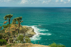 Phromthep cape viewpoint with blue sky Phuket,Thailand Royalty Free Stock Images