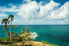 Phromthep cape viewpoint with blue sky Phuket,Thailand Stock Photos