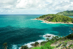 Phromthep cape viewpoint with blue sky Phuket,Thailand Stock Images