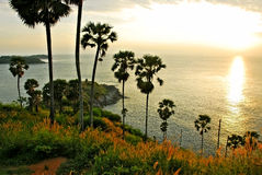 Phromthep cape viewpoint at sunset Stock Photos