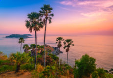 Phromthep cape viewpoint at twilight sky in Phuket Royalty Free Stock Photos