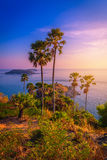 Phromthep cape viewpoint at twilight sky in Phuket Royalty Free Stock Photography
