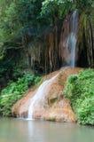 Phu cantou a cachoeira. InThailand despercebido Imagens de Stock
