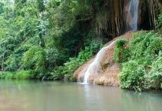 Phu cantou a cachoeira. InThailand despercebido Imagem de Stock