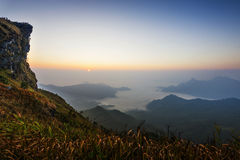 Phu-Chee-Fah at Chiangrai. Is located at the peak of mountain that line the boundary of thailand and Laos Stock Images