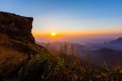 Phu Chee Fah. Sunrise view at Phu Chee Fah, Chiangrai ,Thailand Stock Images